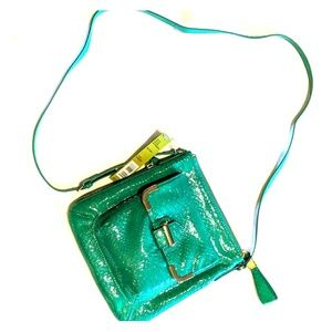 Gianni bini patent leather snakeskin bag